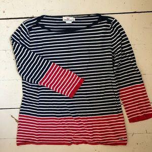 Red, white, blue nautical tee.